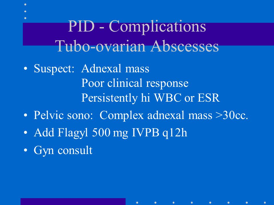 PID - Complications Tubo-ovarian Abscesses
