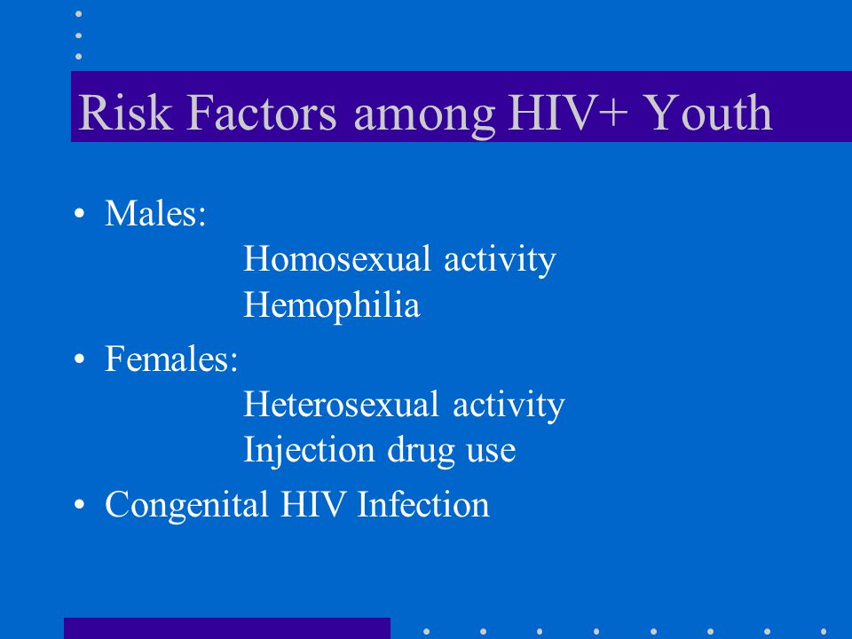 Risk Factors among HIV+ Youth
