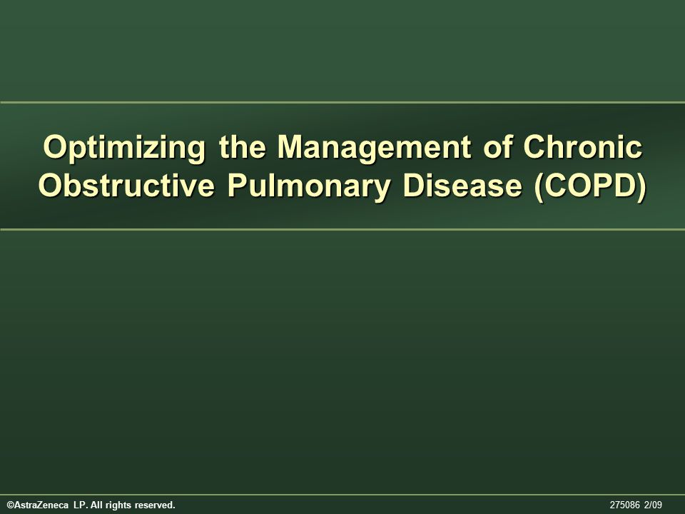 Optimizing the Management of Chronic Obstructive Pulmonary Disease (COPD)