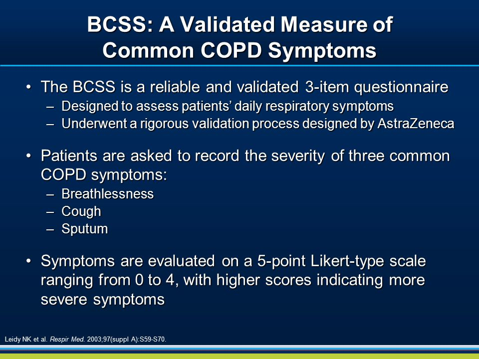 BCSS: A Validated Measure of Common COPD Symptoms