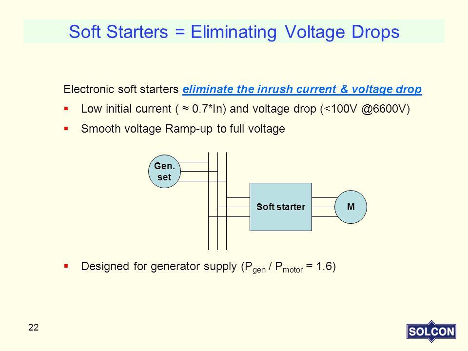 Soft Starters = Eliminating Voltage Drops