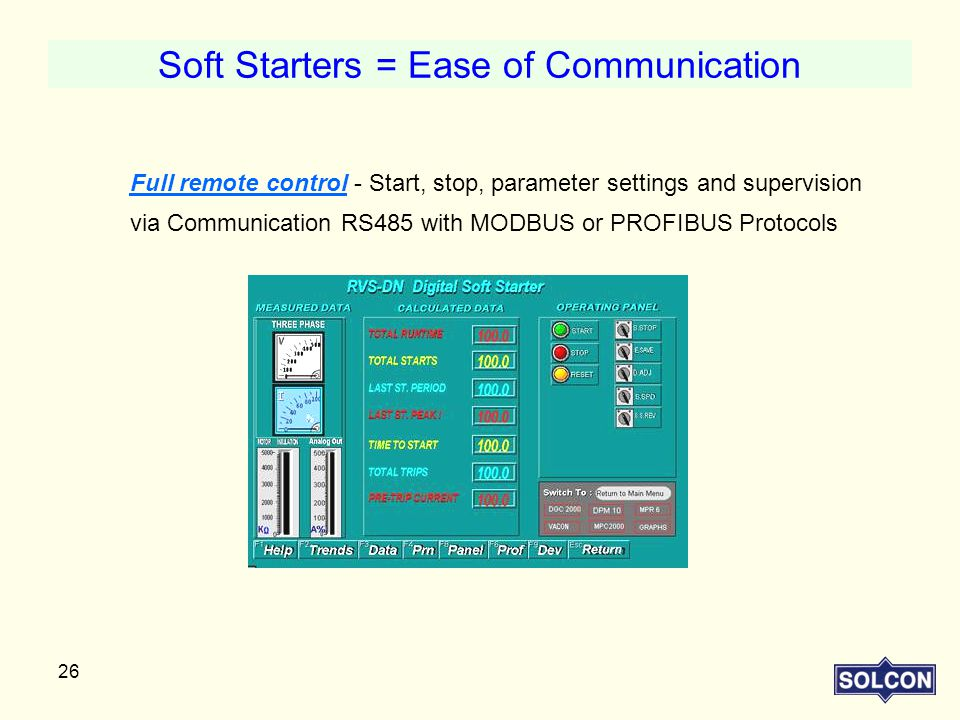 Soft Starters = Ease of Communication