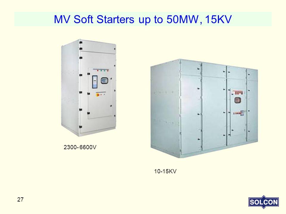 MV Soft Starters up to 50MW, 15KV