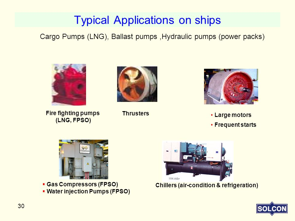 Typical Applications on ships