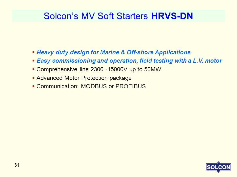 Solcon's MV Soft Starters HRVS-DN