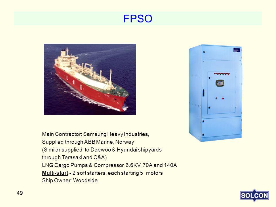 FPSO Main Contractor: Samsung Heavy Industries,