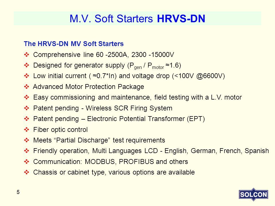 M.V. Soft Starters HRVS-DN