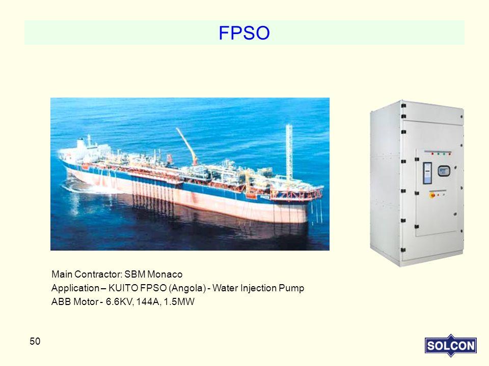 FPSO Main Contractor: SBM Monaco