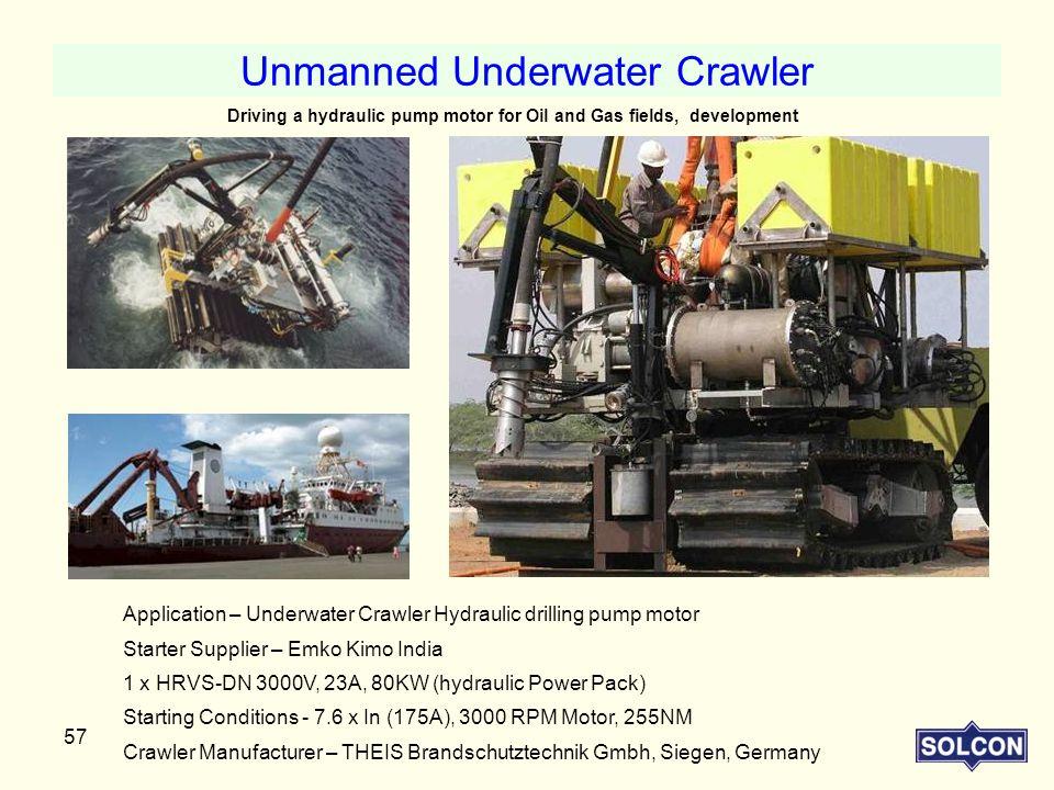 Unmanned Underwater Crawler