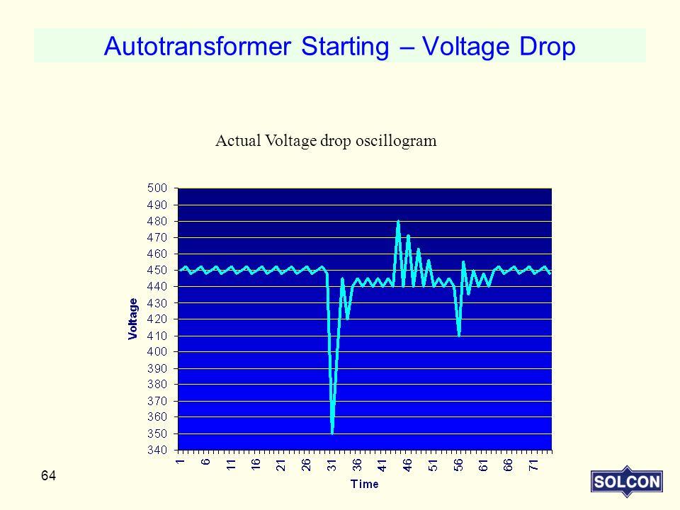 Autotransformer Starting – Voltage Drop