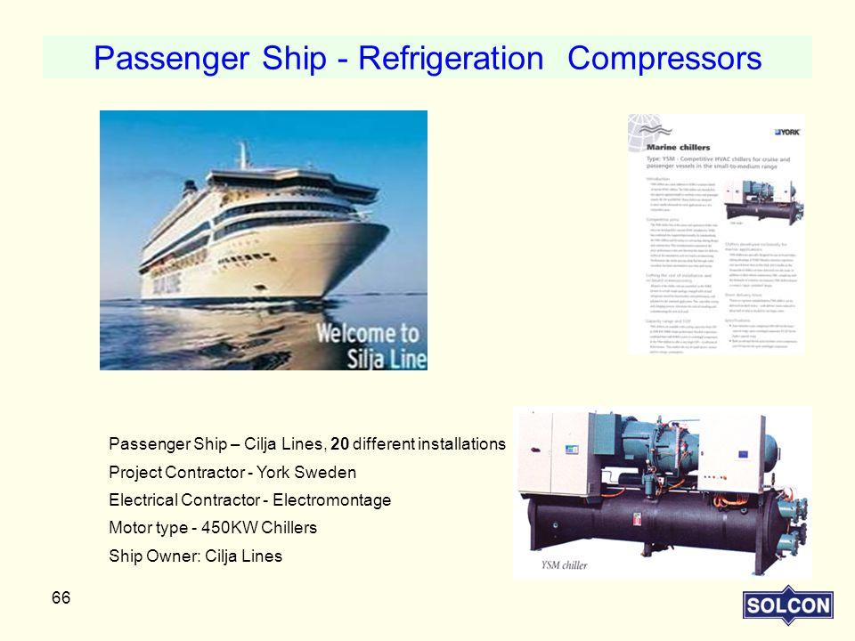 Passenger Ship - Refrigeration Compressors