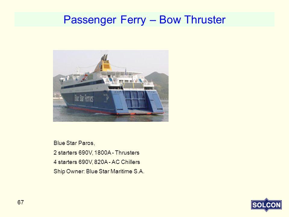 Passenger Ferry – Bow Thruster