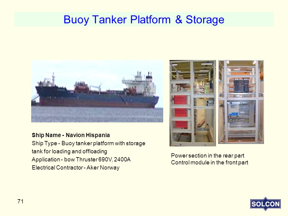Buoy Tanker Platform & Storage