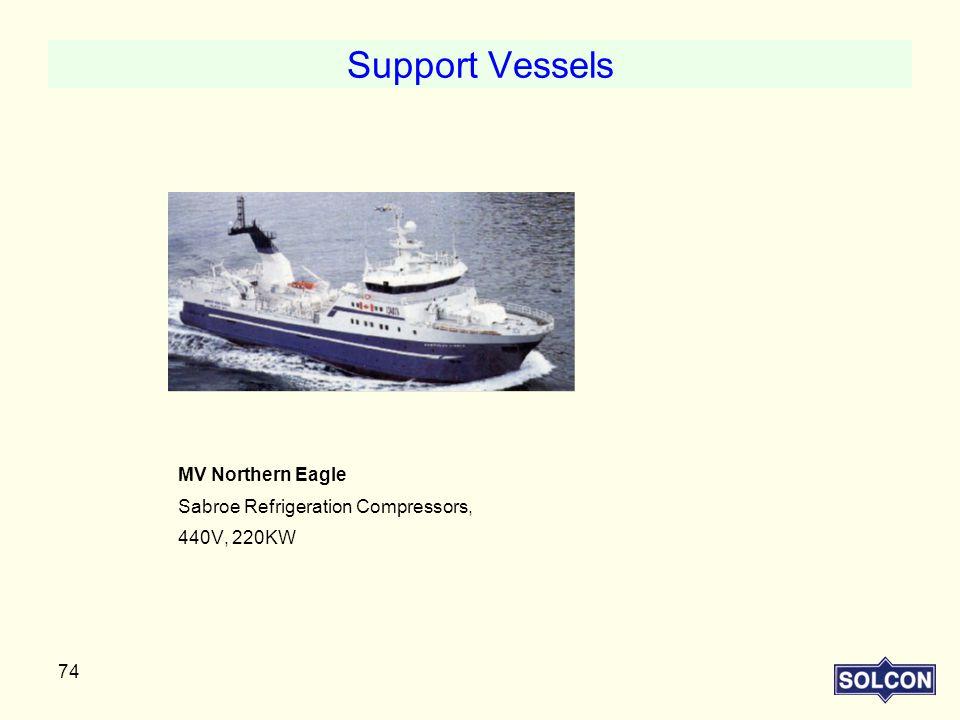 Support Vessels MV Northern Eagle Sabroe Refrigeration Compressors,