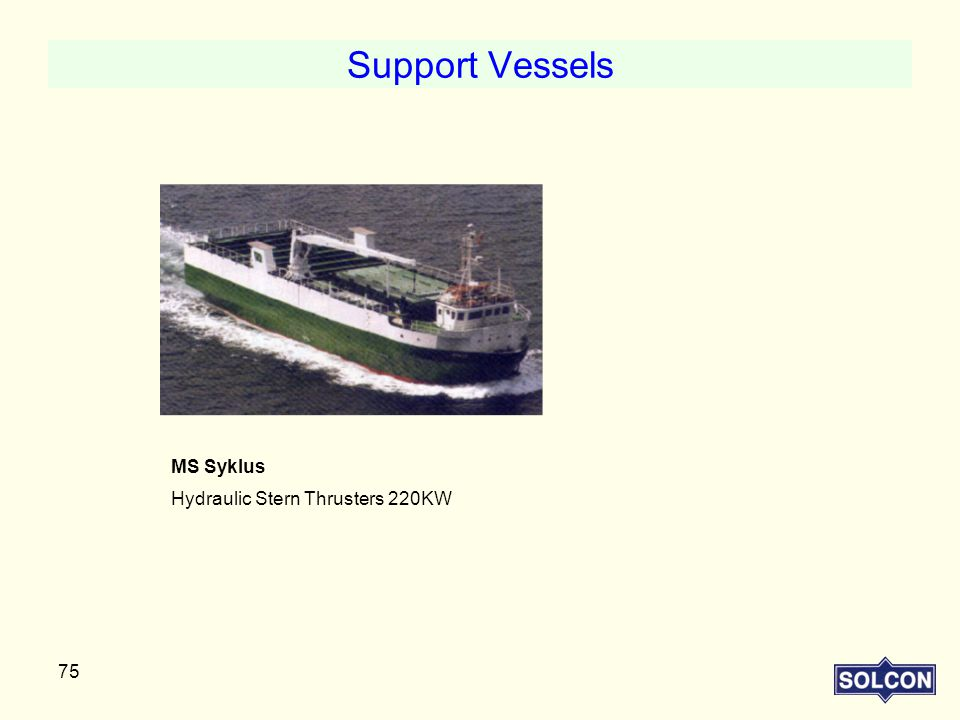 Support Vessels MS Syklus Hydraulic Stern Thrusters 220KW