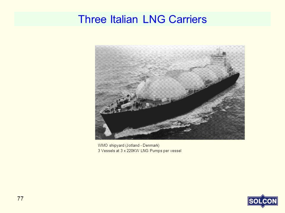 Three Italian LNG Carriers