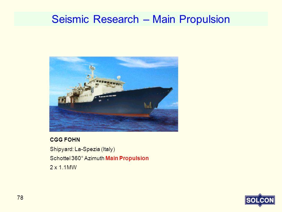 Seismic Research – Main Propulsion