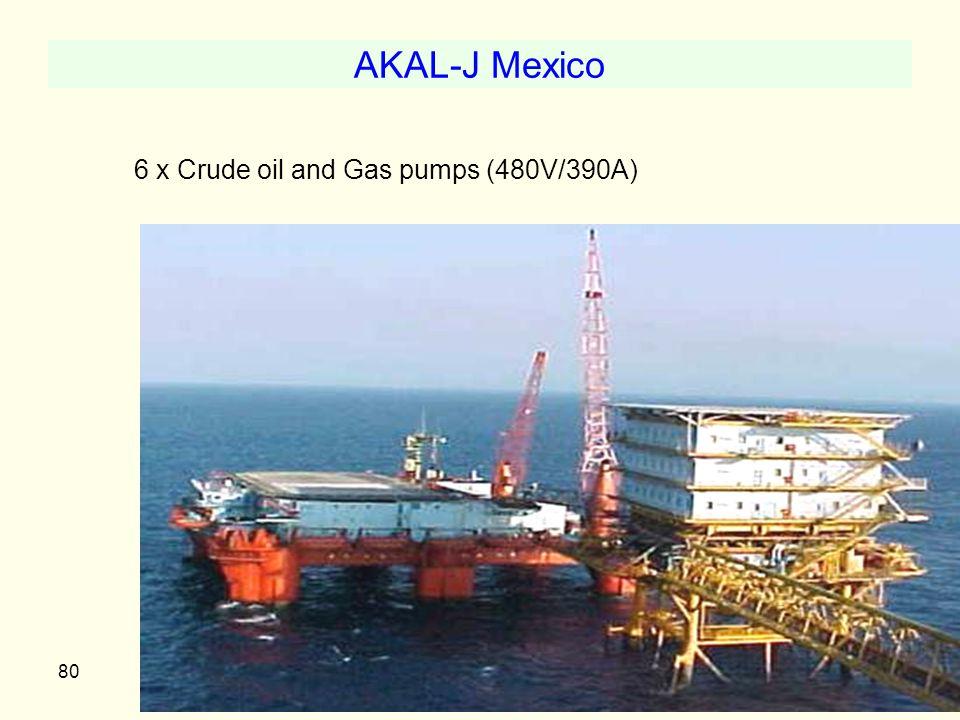 AKAL-J Mexico 6 x Crude oil and Gas pumps (480V/390A)