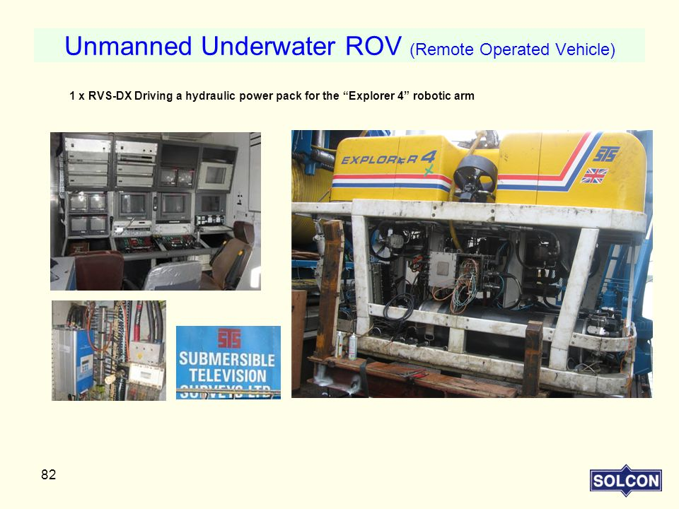 Unmanned Underwater ROV (Remote Operated Vehicle)