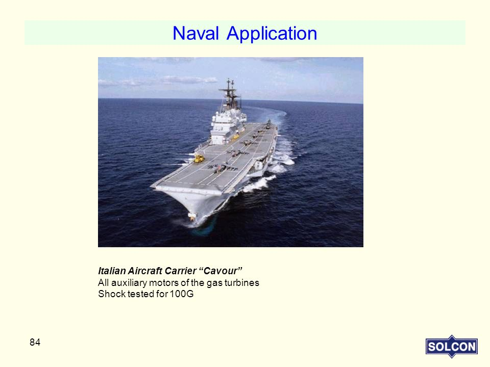 Naval Application Italian Aircraft Carrier Cavour