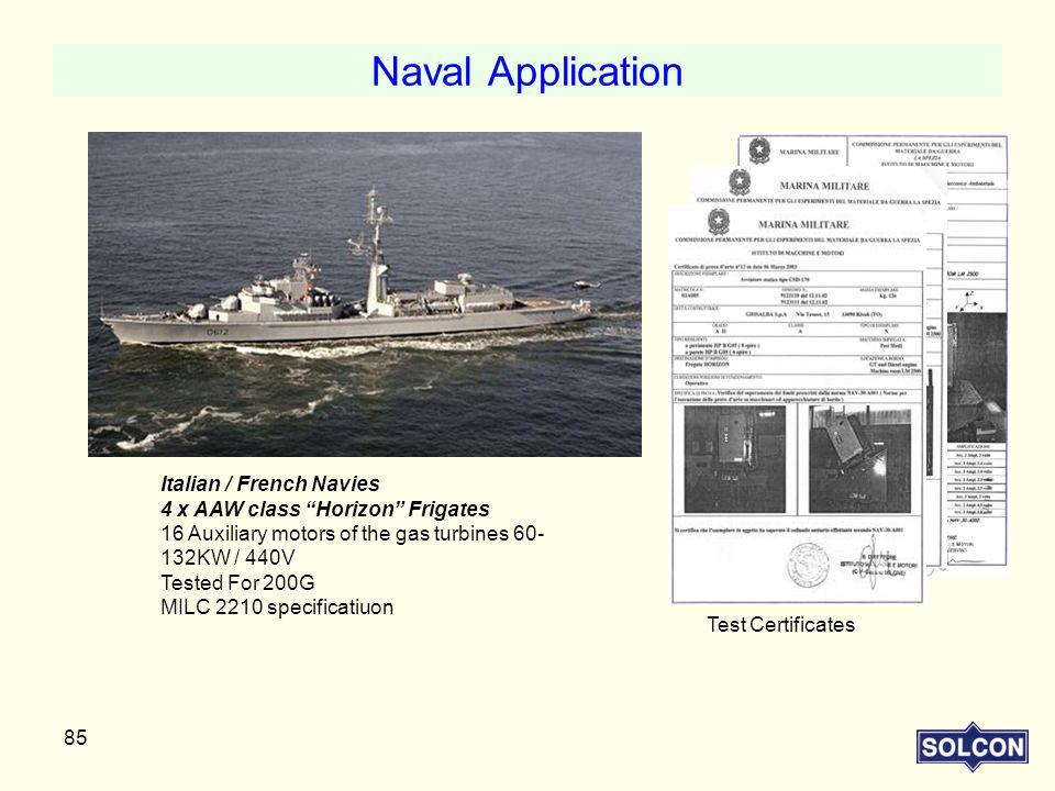Naval Application Italian / French Navies