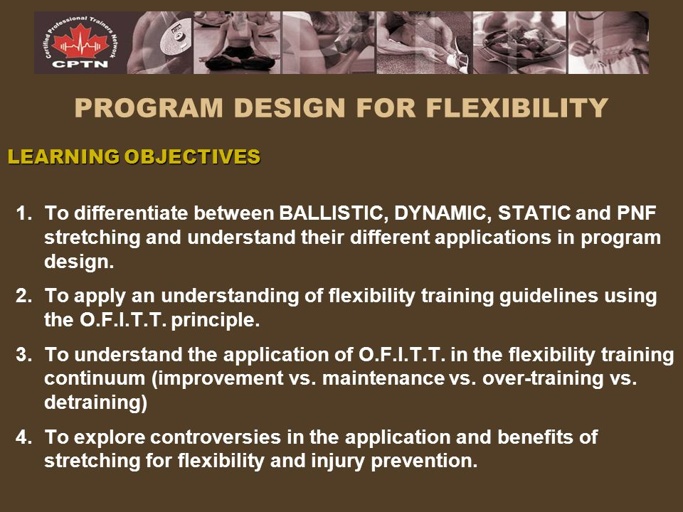 PROGRAM DESIGN FOR FLEXIBILITY