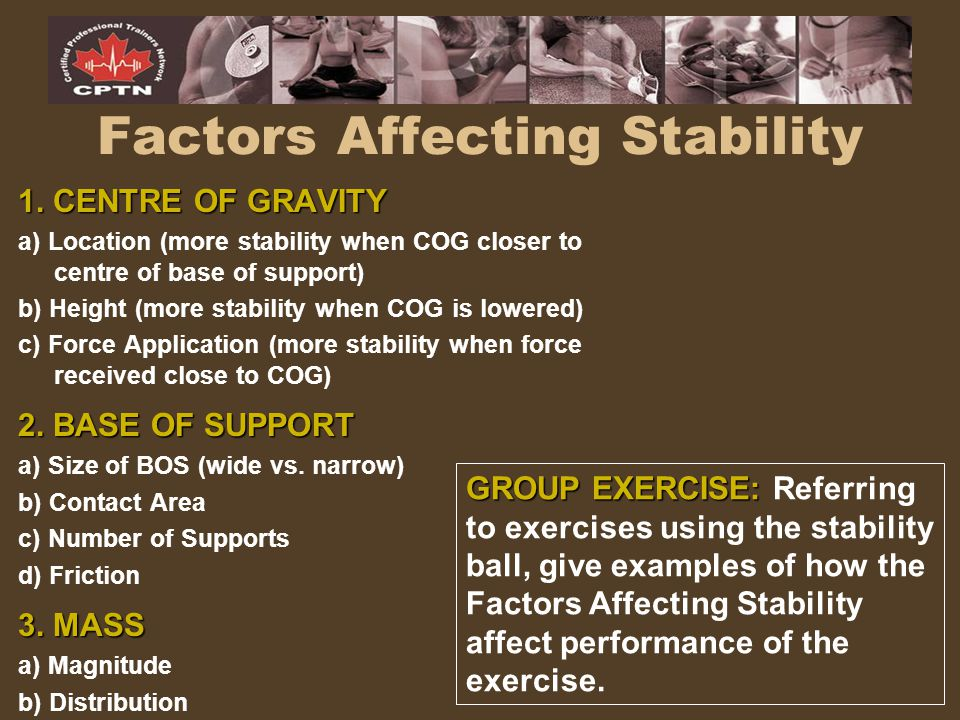 Factors Affecting Stability