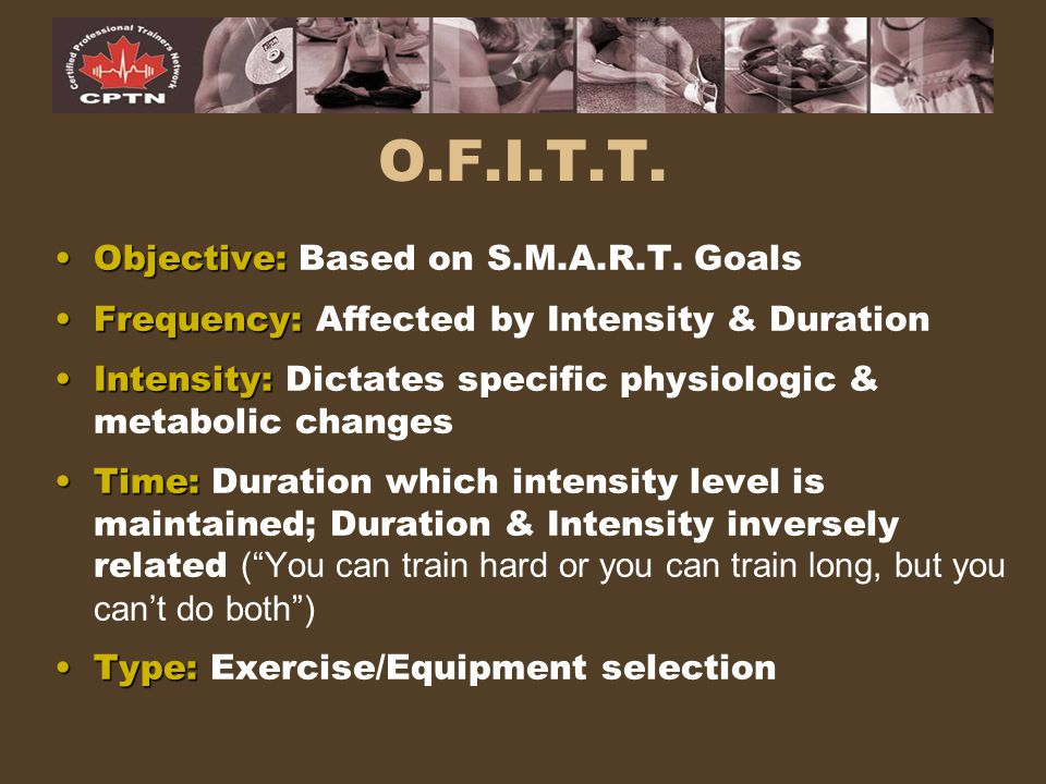 O.F.I.T.T. Objective: Based on S.M.A.R.T. Goals