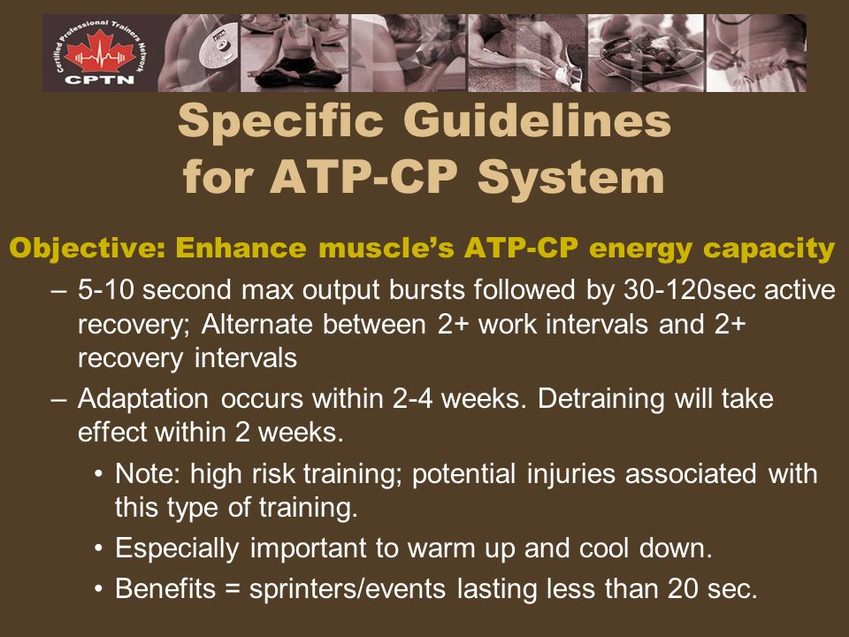 Specific Guidelines for ATP-CP System