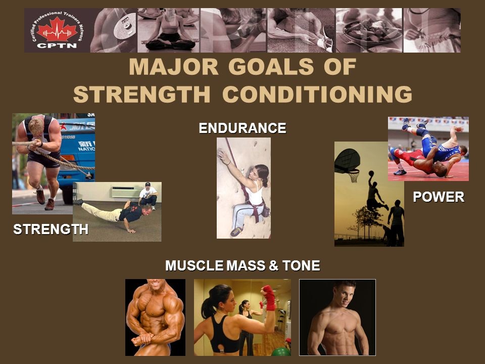 MAJOR GOALS OF STRENGTH CONDITIONING