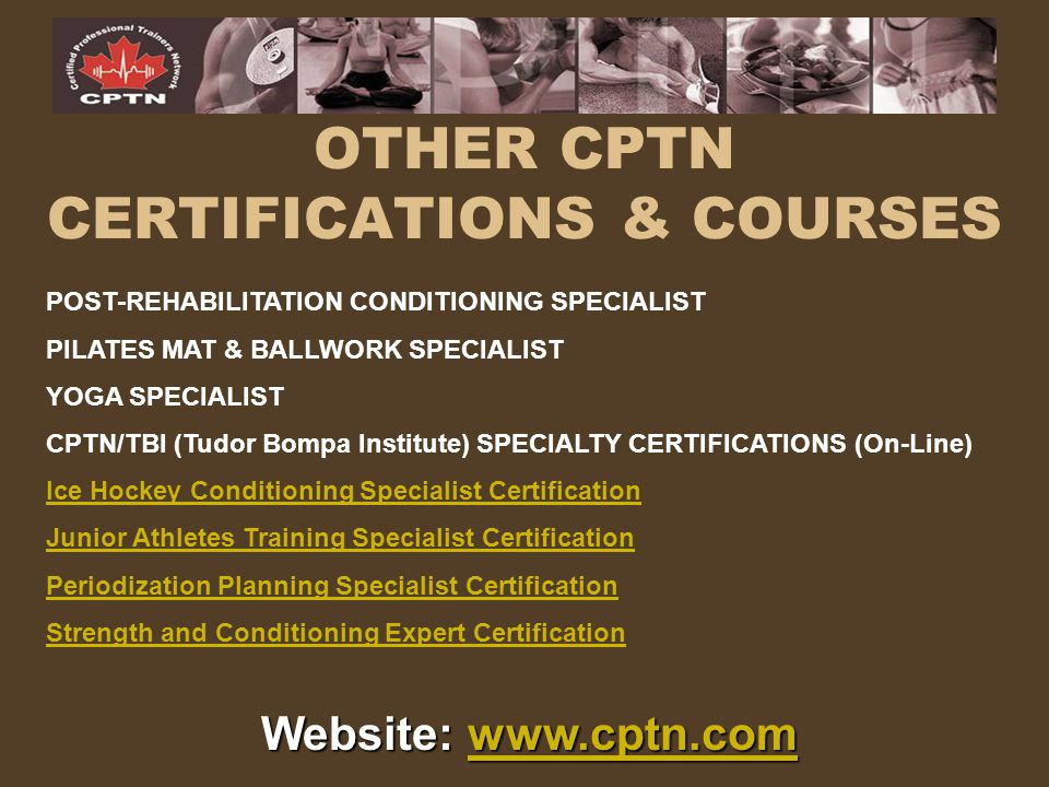 OTHER CPTN CERTIFICATIONS & COURSES