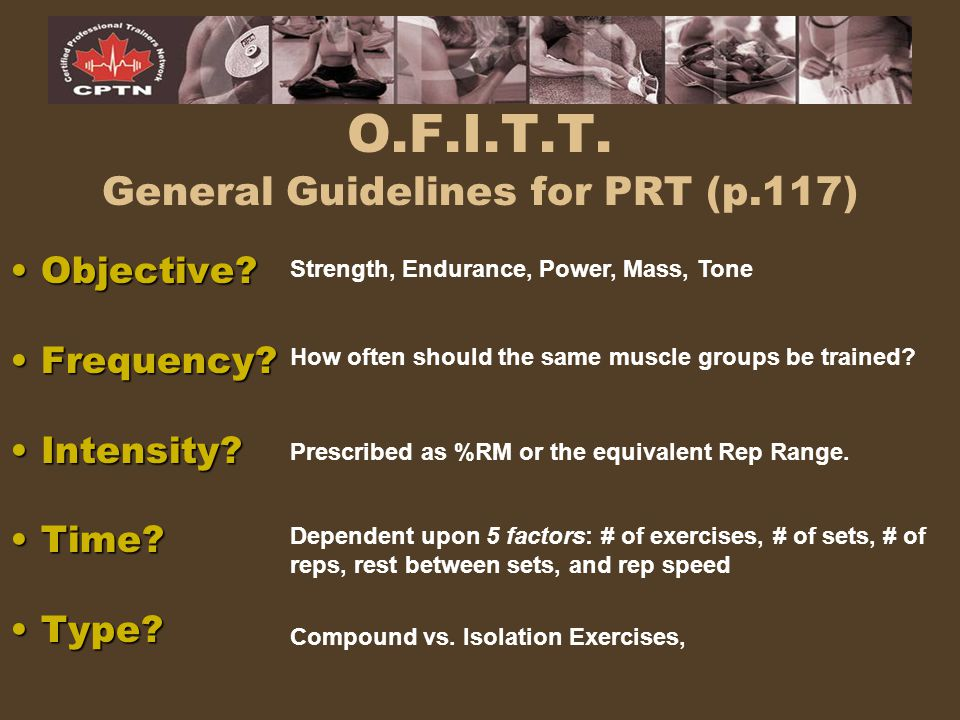 O.F.I.T.T. General Guidelines for PRT (p.117)