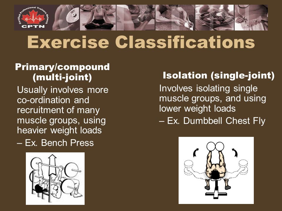 Exercise Classifications