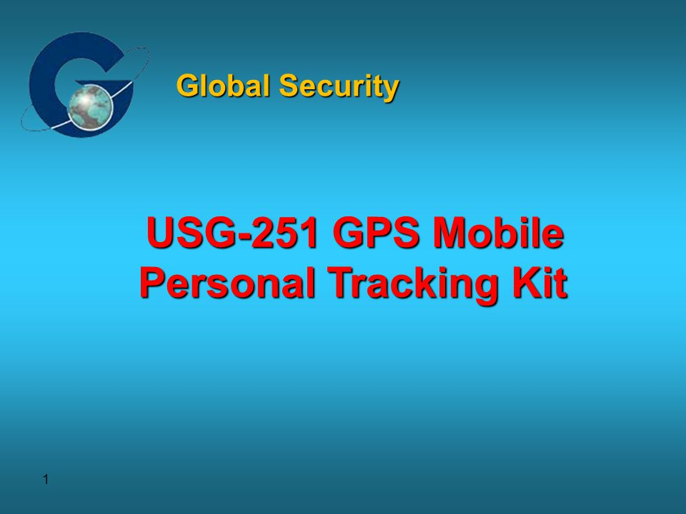Global Security USG-251 GPS Mobile Personal Tracking Kit