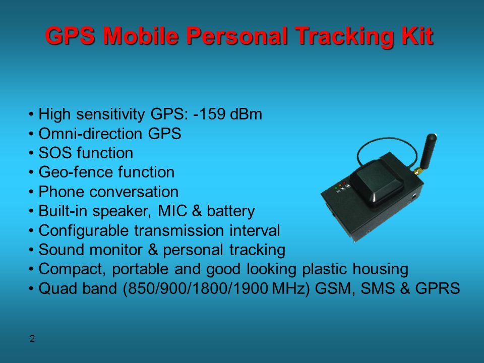 GPS Mobile Personal Tracking Kit