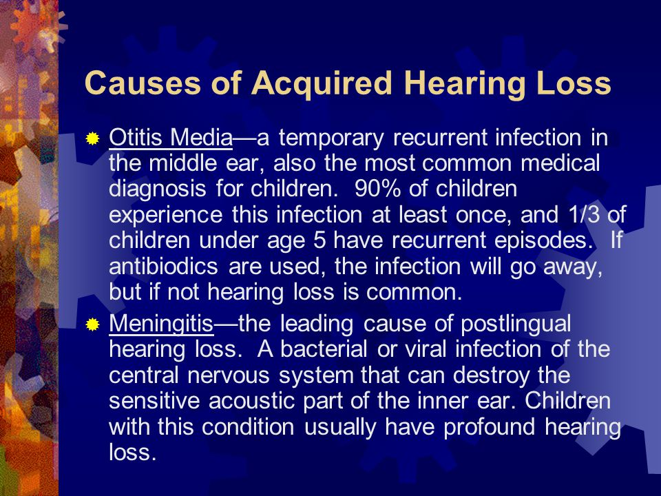 Causes of Acquired Hearing Loss