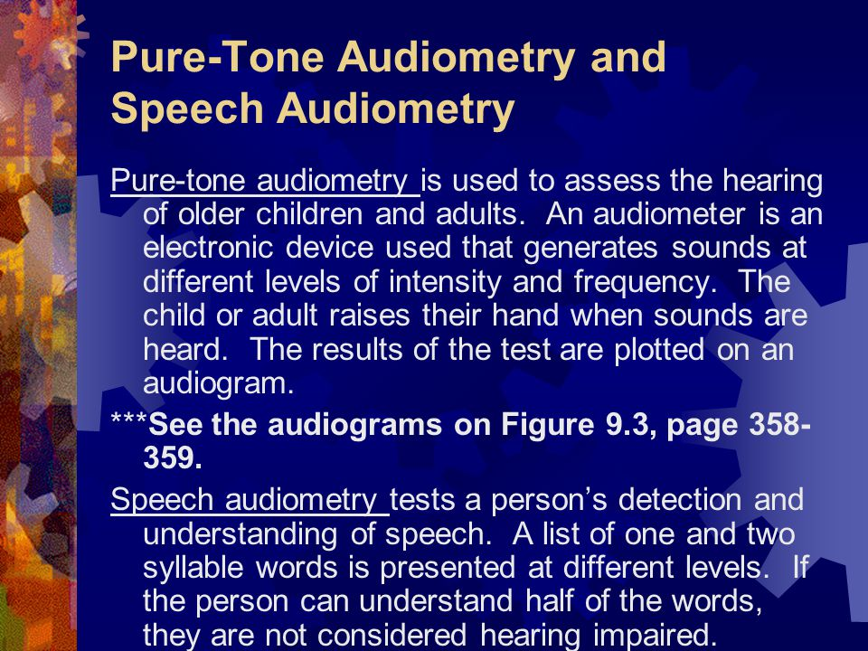 Pure-Tone Audiometry and Speech Audiometry