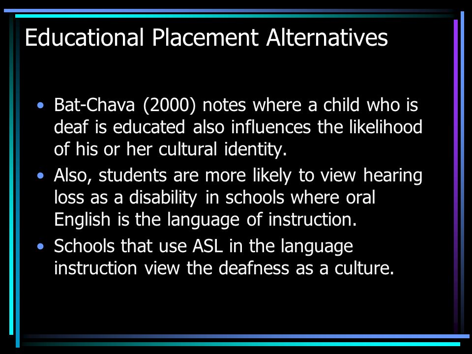 Educational Placement Alternatives