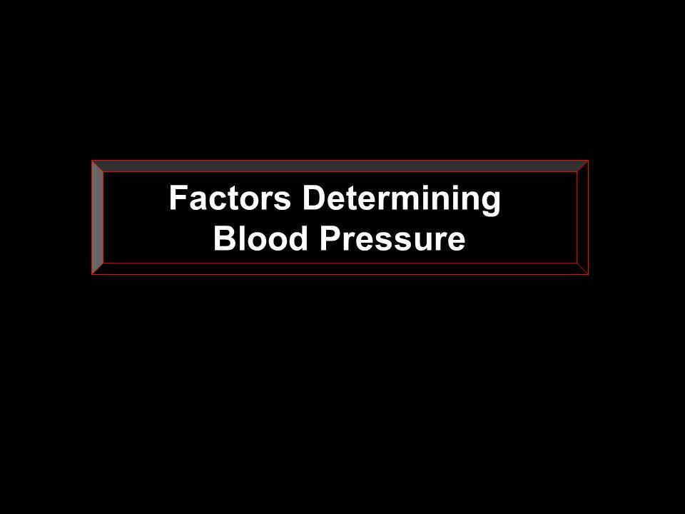 Factors Determining Blood Pressure