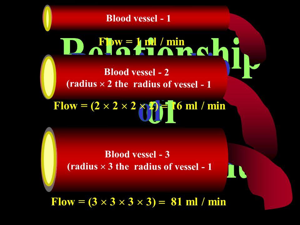 Relationship of flow & radius