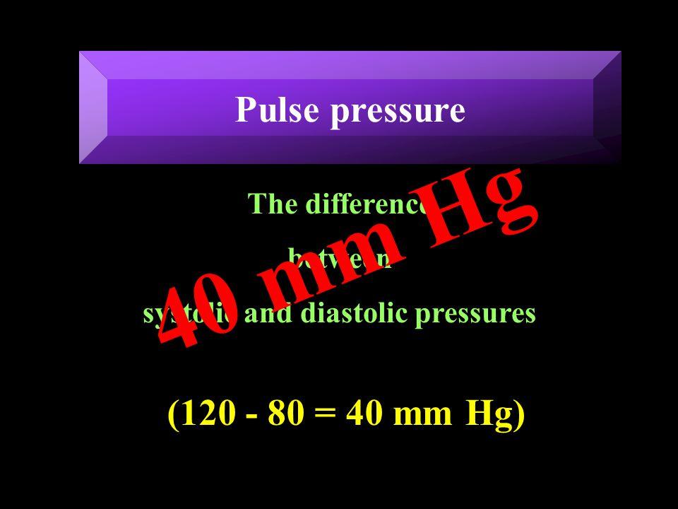 systolic and diastolic pressures