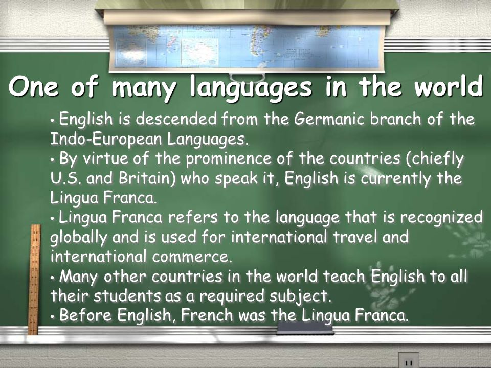 One of many languages in the world