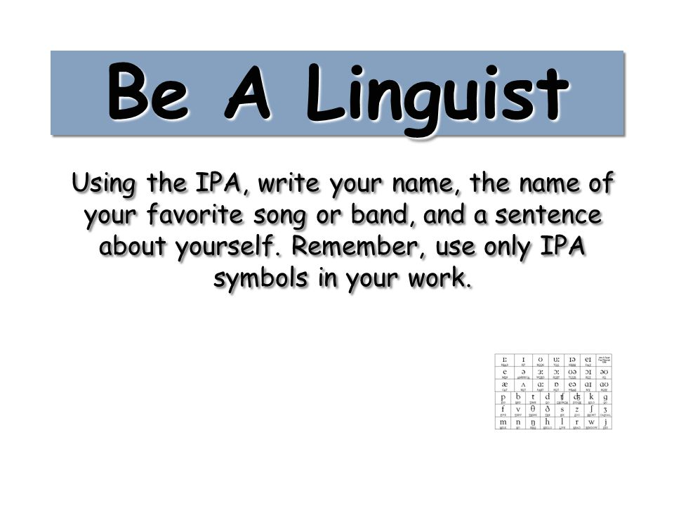Be A Linguist