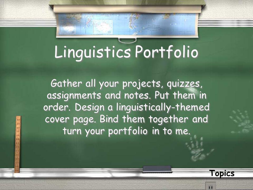 Linguistics Portfolio