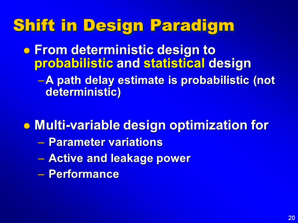 Shift in Design Paradigm