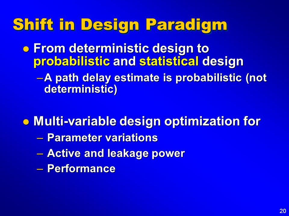 Shift in Design Paradigm