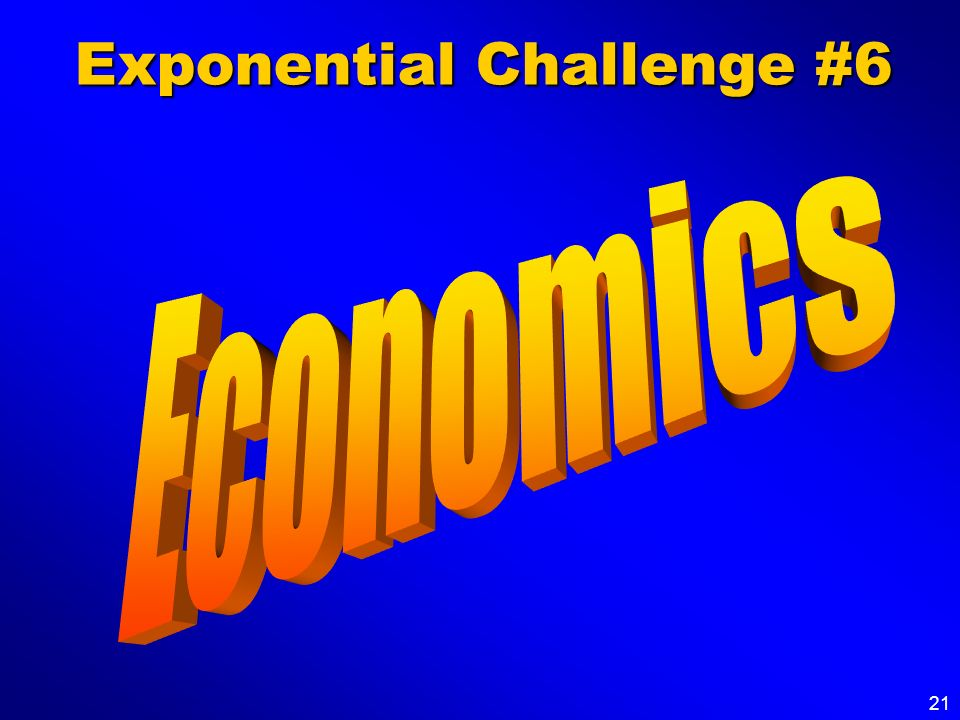 Exponential Challenge #6