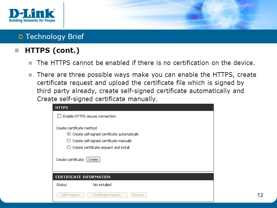 Technology Brief HTTPS (cont.)