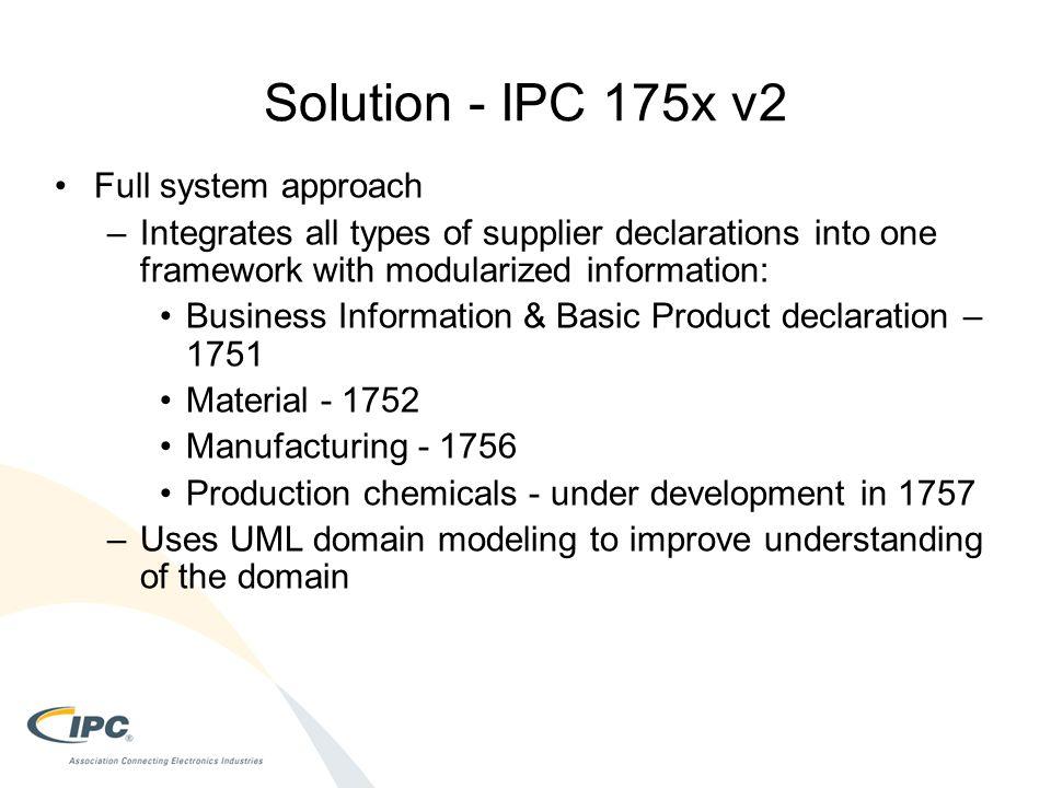 Solution - IPC 175x v2 Full system approach