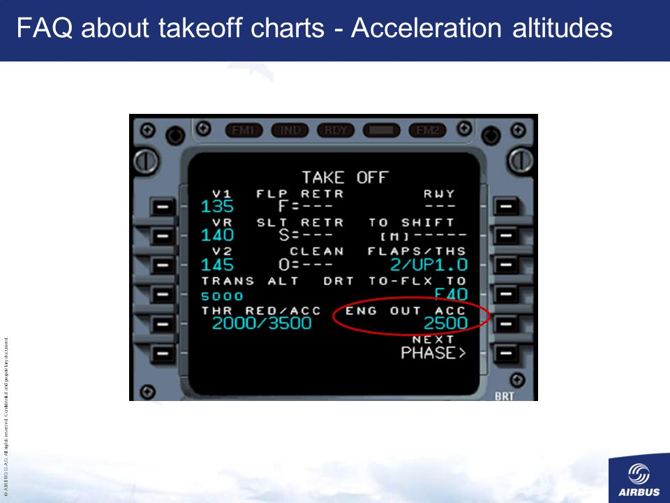 FAQ about takeoff charts - Acceleration altitudes